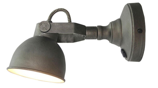 Wandlamp burned steel Bow