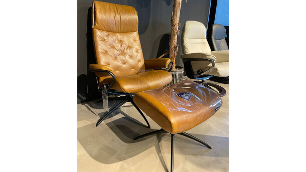 Relaxfauteuil + Hocker Metro Highback - Outlet 855