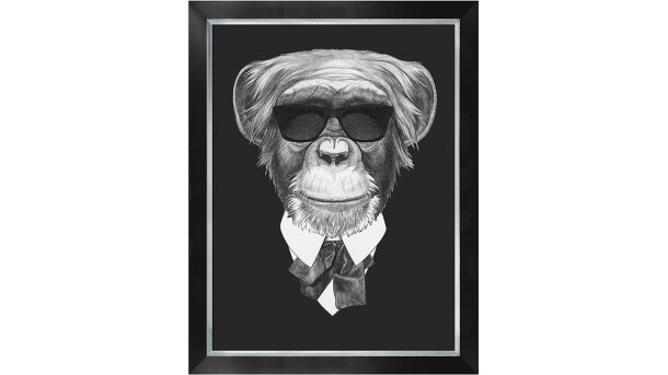 Schilderij Monkey in suit | MondiArt