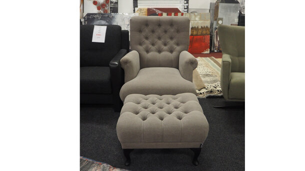 Fauteuil + Hocker Taylor - Outlet