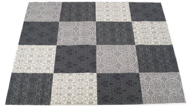 Vloerkleed - black/white Love | Brinker Carpets