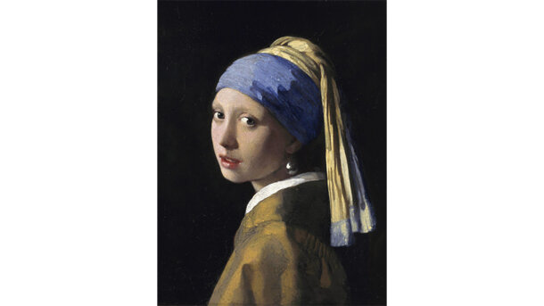 Schilderij Girl with a pearl earring - mat