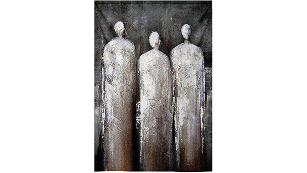 Wandkleed 3 figuren