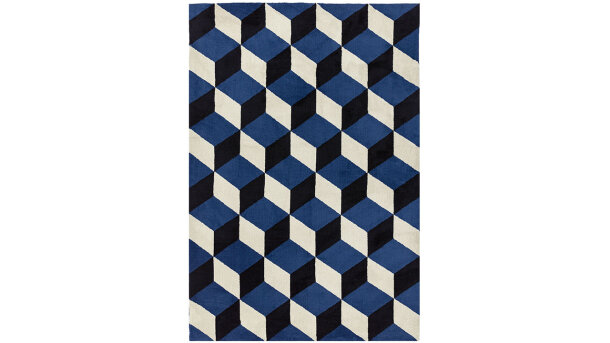 Vloerkleed Blue Block Soure