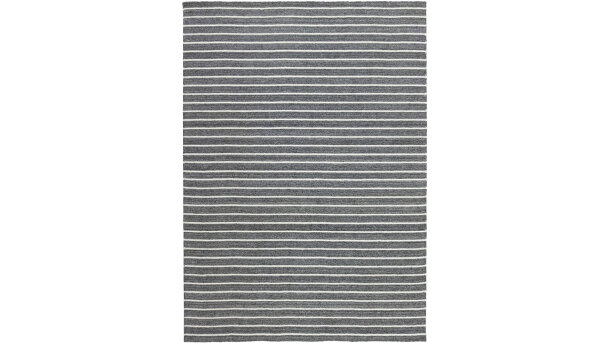 Vloerkleed dark grey/white Nouveau Stripes
