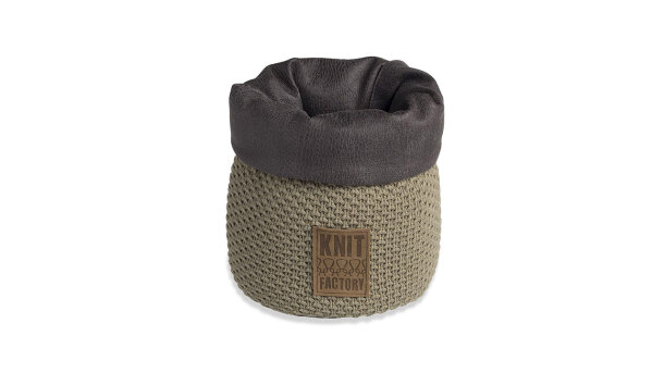 Mand groot olive Lynn | Knit Factory