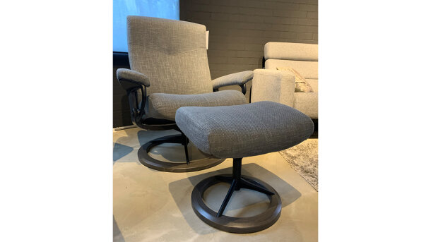 Relaxfauteuil + hocker Dover - Outlet 1068