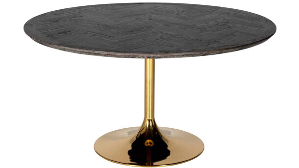 Eettafel rond 7441 Blackbone goud | Richmond Interiors