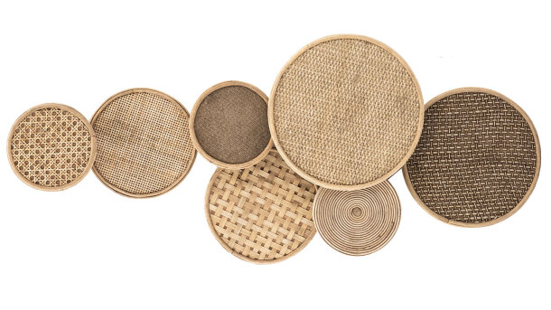 Wanddecoratie Round & Round - natural | 205200 | By-Boo