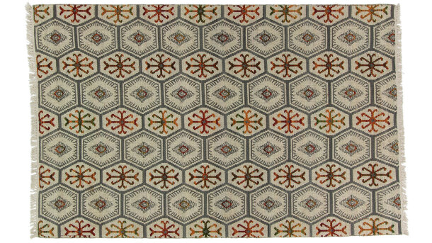 Vloerkleed Ivory Red Double | Brinker Carpets Festival
