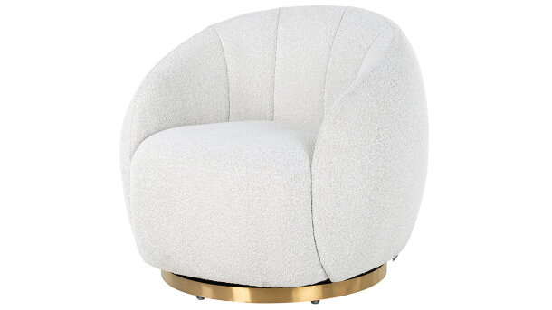 Draaifauteuil White Bouclé S4530 Jago | Richmond Interiors