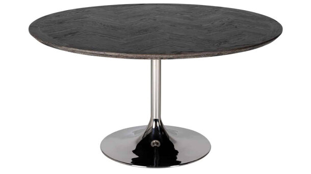 Eettafel rond 7411 Blackbone zilver | Richmond Interiors