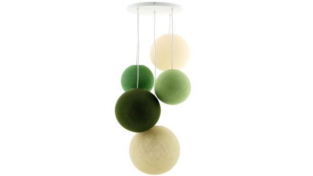 Hanglamp Deluxe 5 Jungle Greens