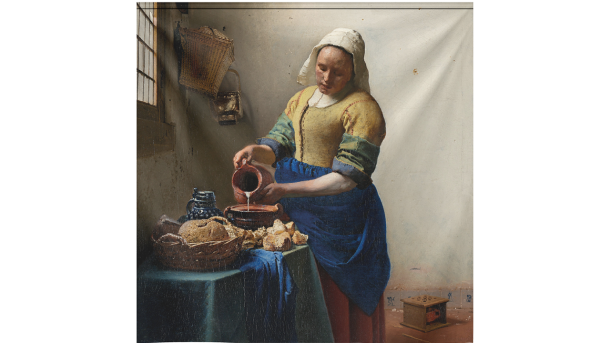 Wandkleed The Milkmaid