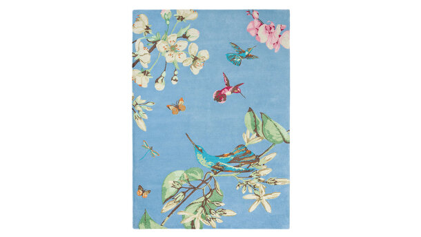 Vloerkleed Blue 37808 Hummingbird