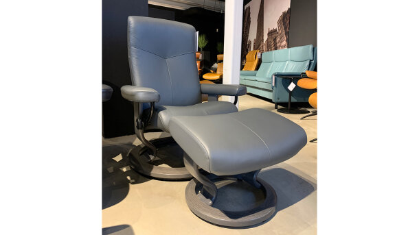 Relaxfauteuil + hocker Dover - Outlet 1064