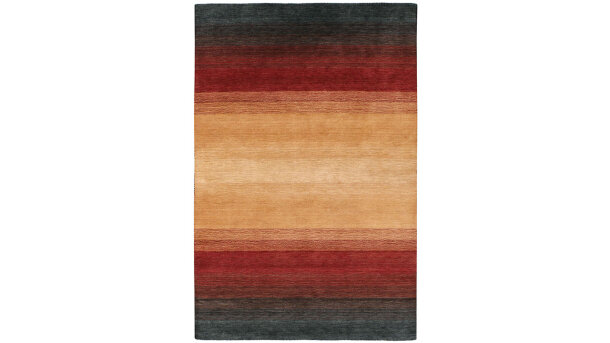 Vloerkleed black/terra Panorama | Momo Rugs