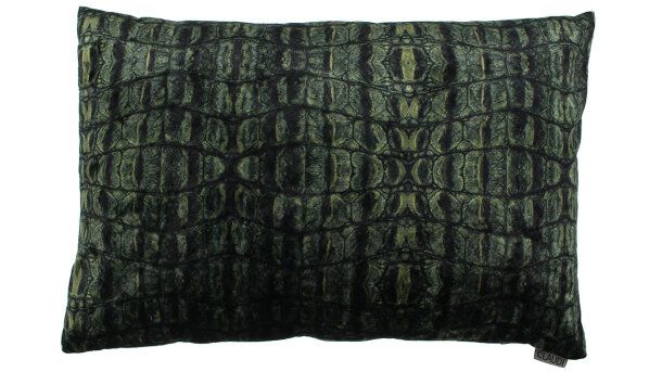 Sierkussen Dark Green Croco | Claudi Chique