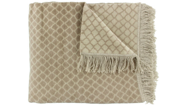 Plaid Taupe Colly | Claudi Chique