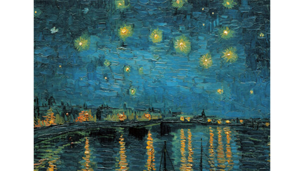Wandkleed Starry night over the Rhone van Gogh
