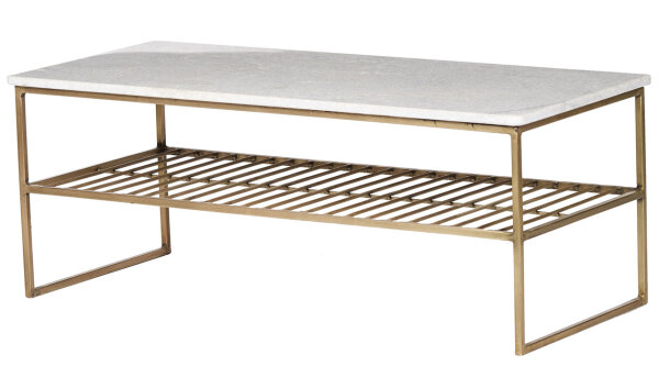 Salontafel white gold Dian