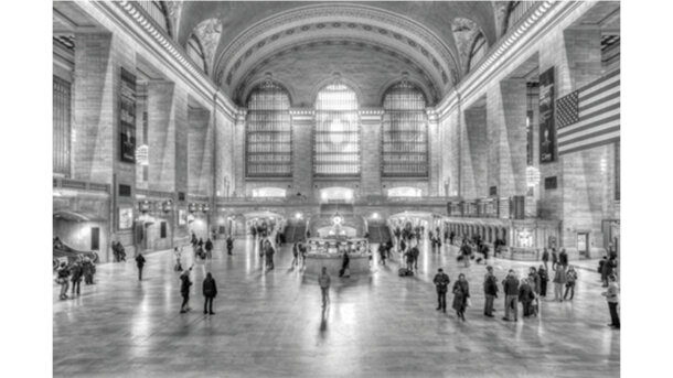 Schilderij Grand Central Brush