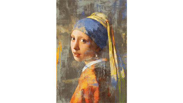 Schilderij Girl with pearl - mat
