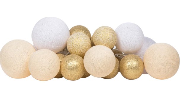 Lichtslinger Premium Touch of Gold 20 | Cotton Ball Lights