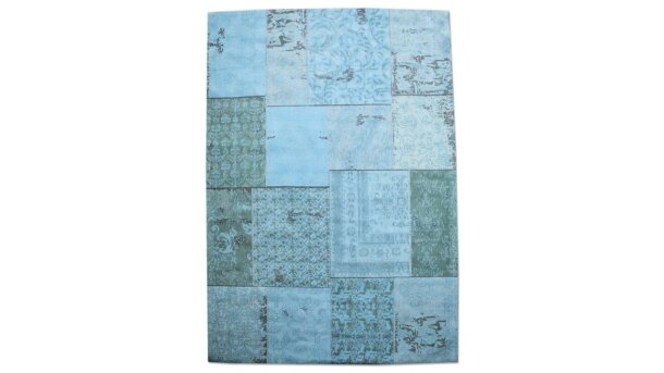 Vloerkleed Patchwork - turquoise | By-Boo