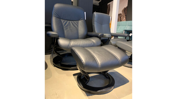 Relaxfauteuil + hocker Consul - Outlet 1070
