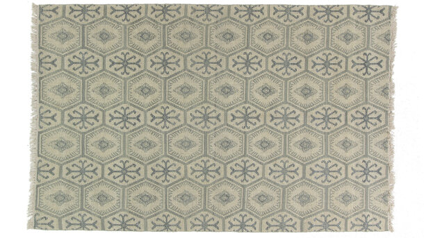 Vloerkleed Grey Blue Double | Brinker Carpets Festival