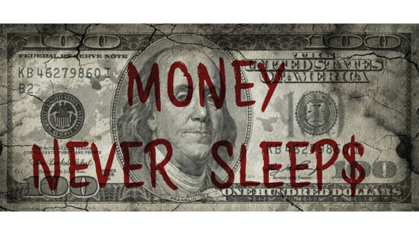 Schilderij Money never sleeps - Franklin | MondiArt