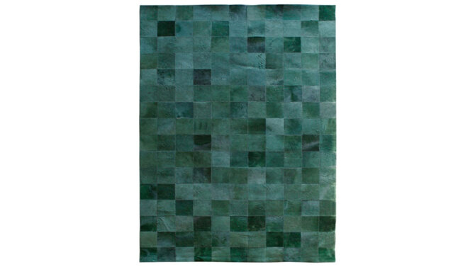 Vloerkleed Patchwork Leather - groen | 6240 | By-Boo