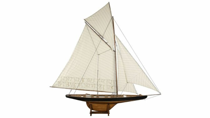 Miniatuur boot America's Cup AS075F | Authentic Models