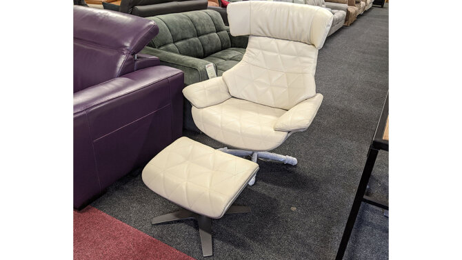 Fauteuil + Poef Wieber - Outlet