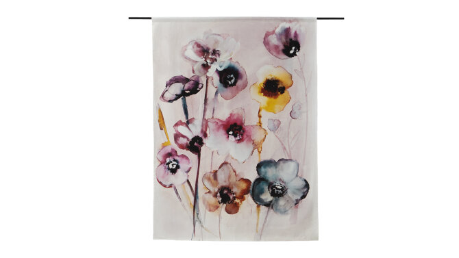 Wandkleed Flowers In Soft Hues | Urban Cotton