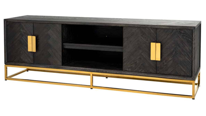 Tv Meubel Salontafel Dressoir.Meubel Tv Dressoir 7444 Blackbone Goud 244020