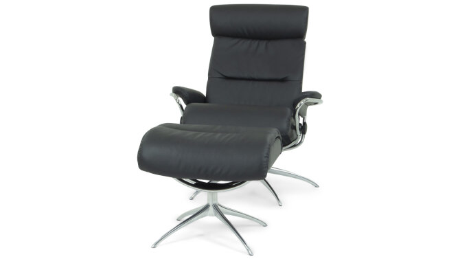 Relaxfauteuil + hocker Tokyo - Outlet