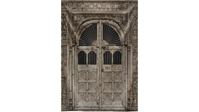 Wandkleed Ancient Doors Wood | MondiArt