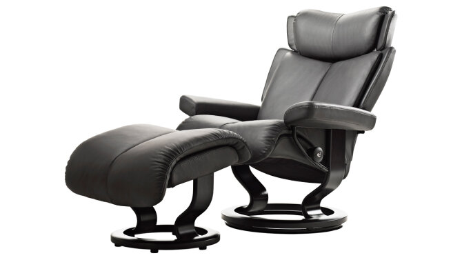Relaxfauteuil + hocker Magic - Outlet 842