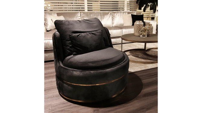 Draaifauteuil S4491 Antraciet Kylie | Richmond Interiors