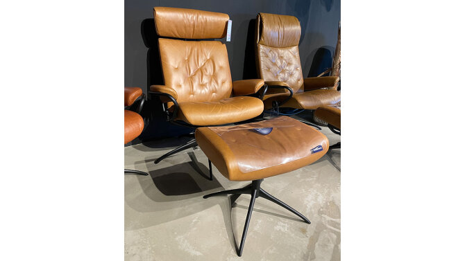 Relaxfauteuil + Hocker Metro Lowback - Outlet 850