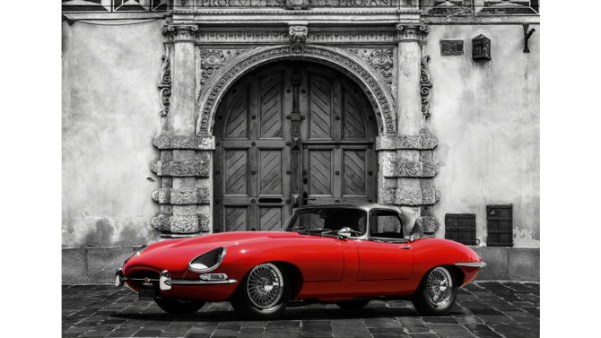 Wandkleed Roadster in front of Palace | MondiArt