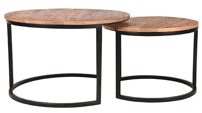 Salontafel Set Double - mango