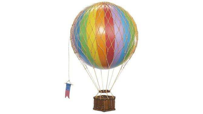 Miniatuur luchtballon Travels AP161E | Authentic Models