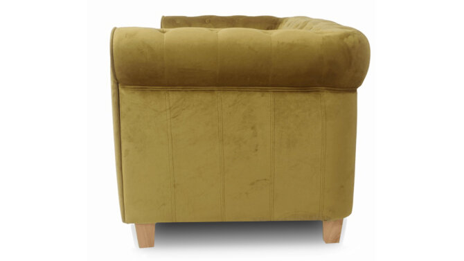 Fauteuil Mosterd Velours Malibu  | Aemely