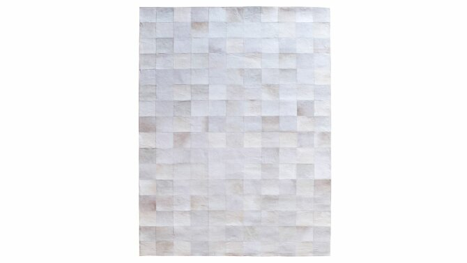 Vloerkleed Patchwork leather - wit | 6241 | By-Boo