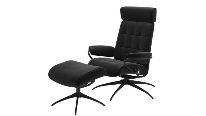 Relaxfauteuil + Hocker London Lowback - Outlet 860