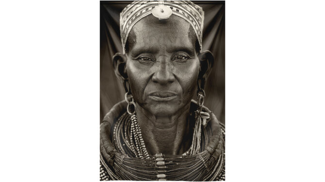 Wandkleed 4020038 Samburu Woman | MondiArt