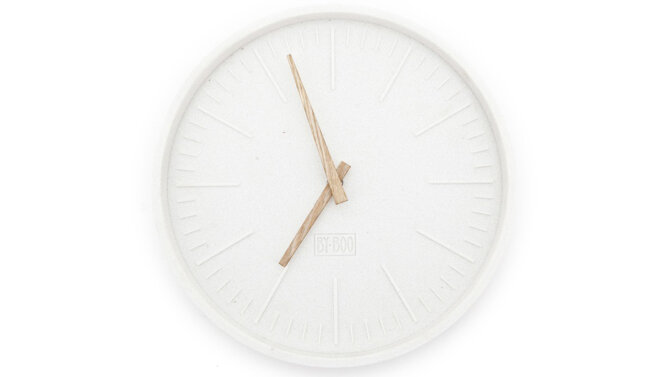 Klok Justin Time - rond | 6550 | By-Boo